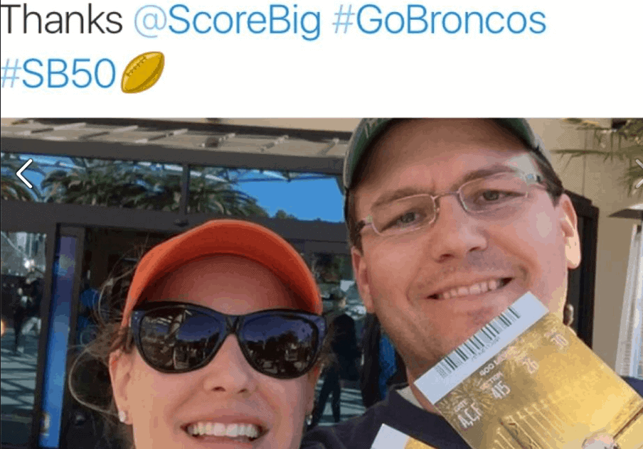 scorebig reviews 2016 2 fans tickets broncos game reliable