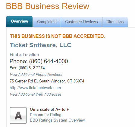 ticket liquidator reviews 2016 tickets bbb accredited score