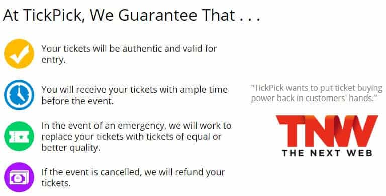 tickpick reviews guarantee authentic valid legit reliable