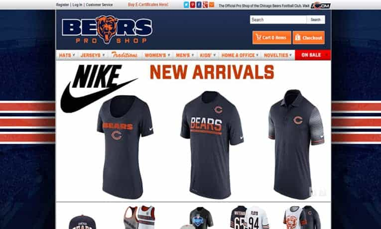 Gear up for the big game with official Chicago Bears gear from the Bears online pro shop. With a full line of Nike Bears jerseys and apparel you will be sure to find a new favorite outfit for game day.