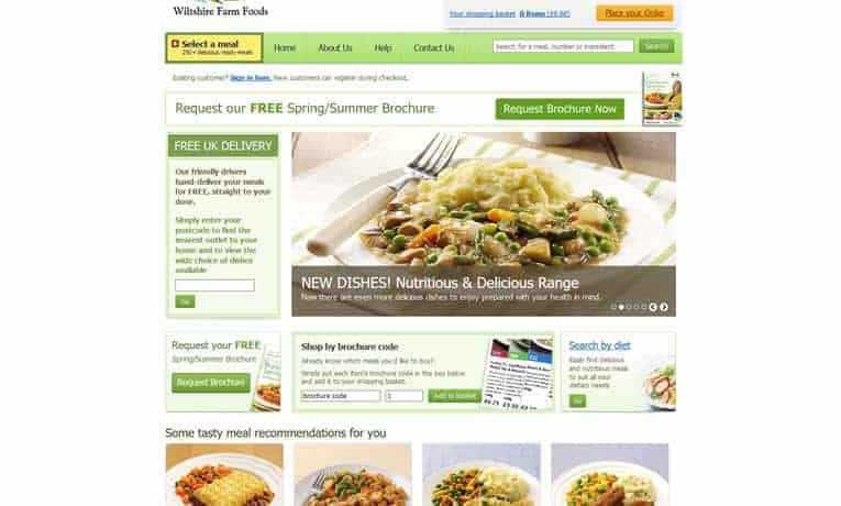 Wiltshire Farm Foods Menu