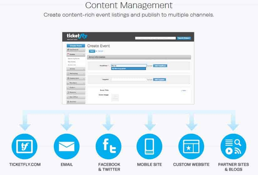 ticketfly reviews 2016 content management listings tickets