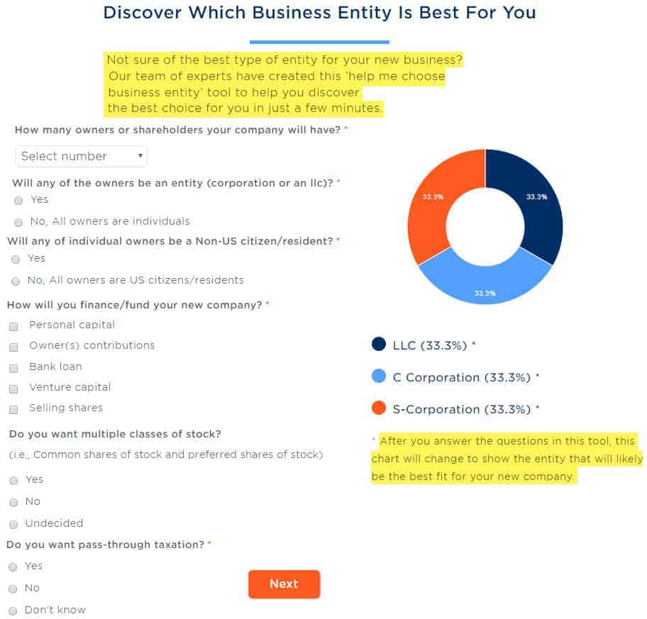 filenow which business entity is best