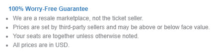 is box office ticket sale legit guarantee