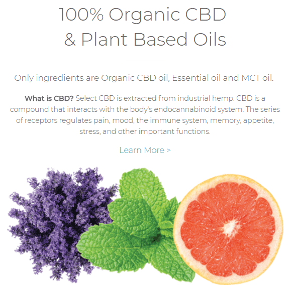 select cbd oil organic plant based hemp derived