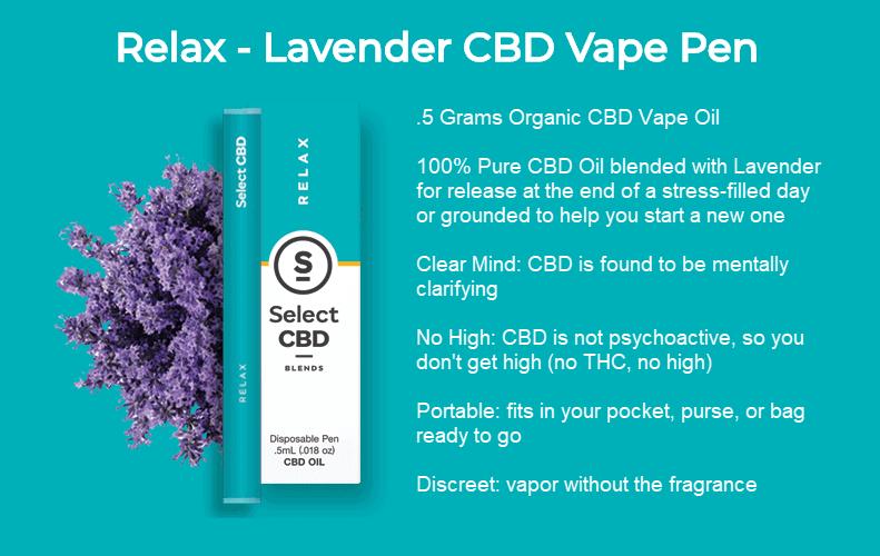 select cbd relax vape pen lavender review 2018