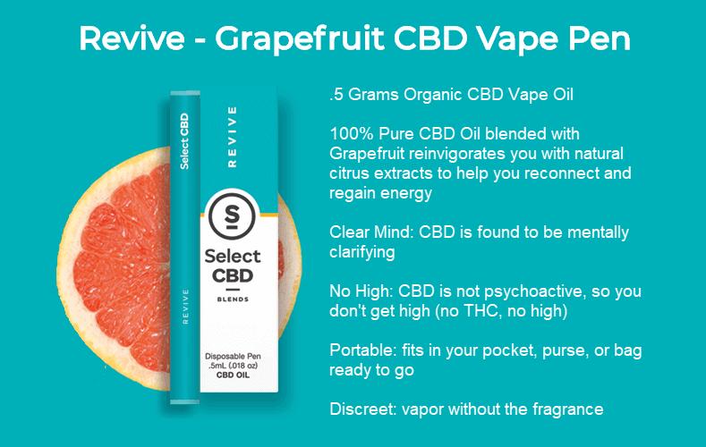 select cbd revive vape pen grapefruit review 2018