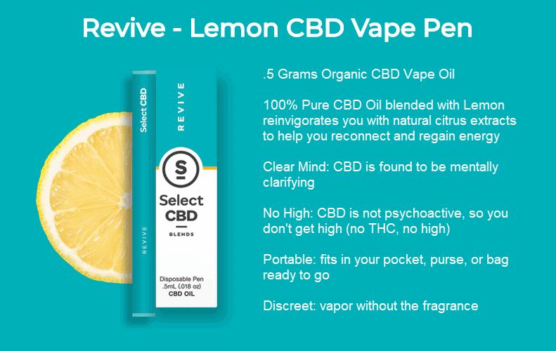 select cbd revive vape pen lemon review 2018