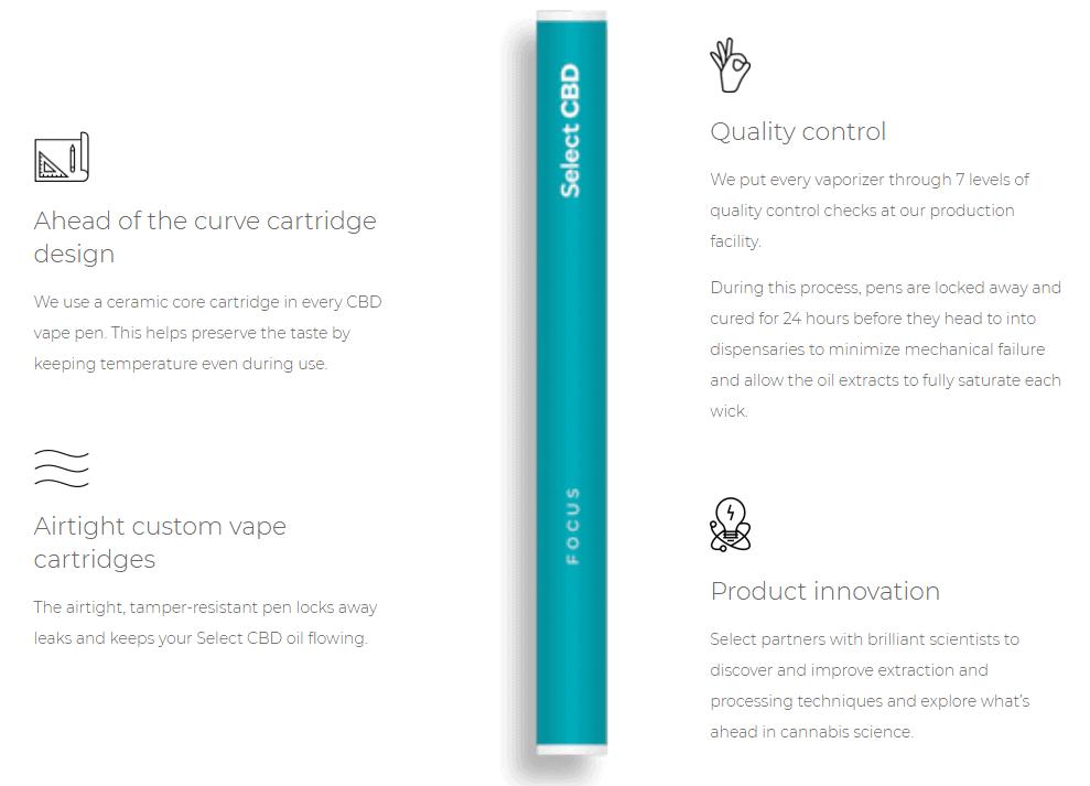select oil cbd quality cartridge vape pens legit safe
