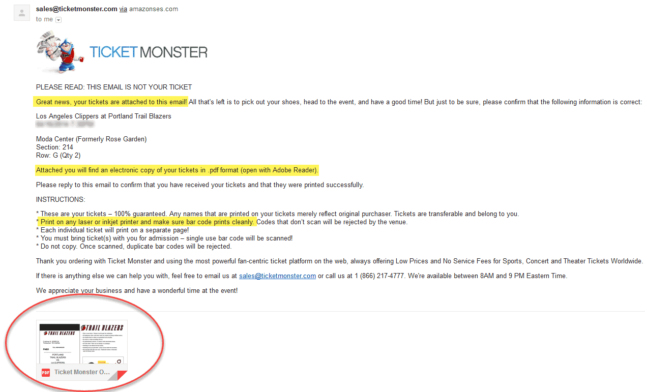ticket monster review tickets shipped no fees