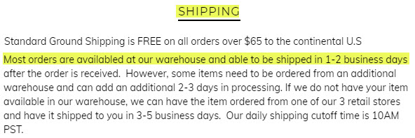 shipping delivery times tilted sole review 2020