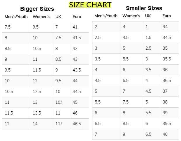 shoe size chart reviews tiltedsole website