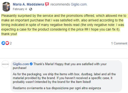legit giglio reviews authentic products