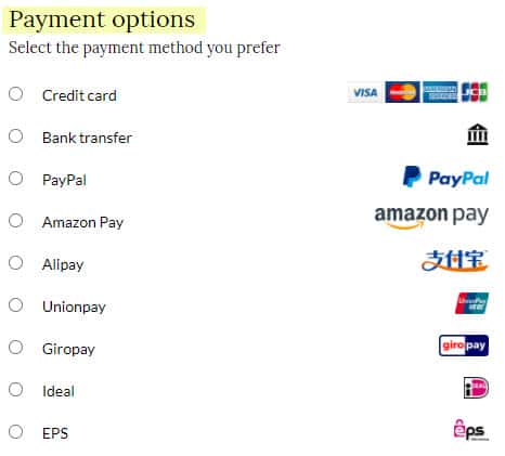 review giglio payment options