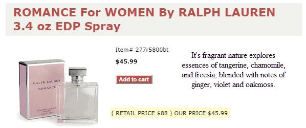 hottperfume reviews romance for women ralph lauren spray