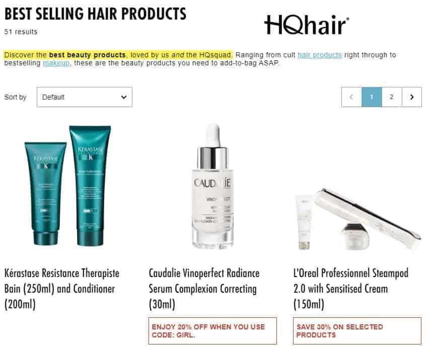 hqhair vs look fantastic review 2020 hair site