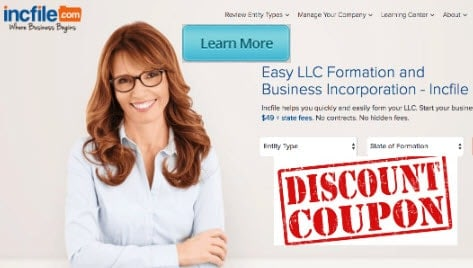 does incfile discount coupon code savings exist