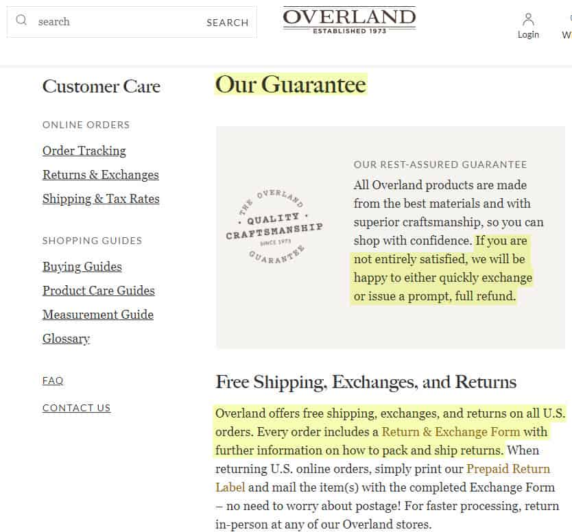 is overland a good brand legit store