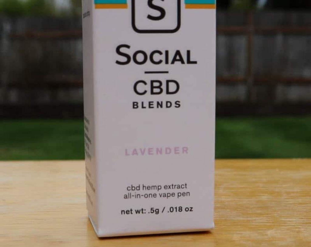 Social CBD Pen Review Relax Lavender
