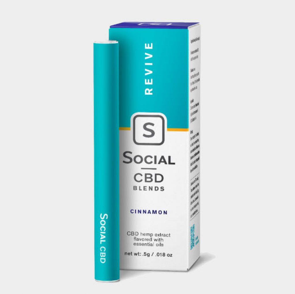 social cbd blends pen review revive cinnamon vape