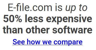 e-file vs turbotax compare software
