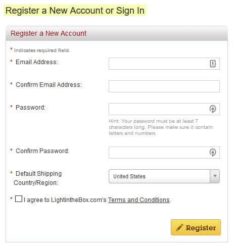 register account sign in lightinthebox.com