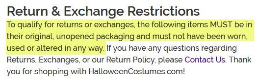 halloweencostumes.com-return-exchange-policy