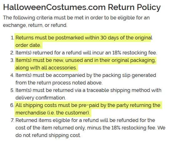 review-halloweencostumes.com-return-policy